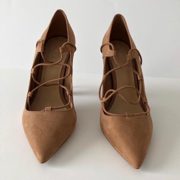 Aldo Tie Up Pointed Toe Heels